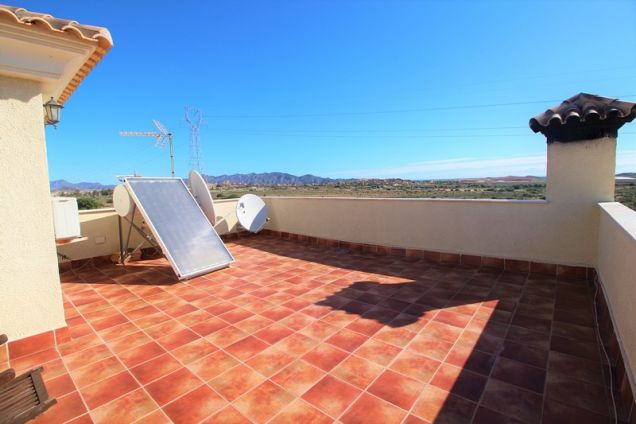Roof terrace with solar hot water